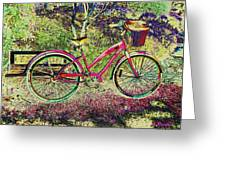 Pink Bicycle Greeting Card