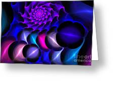 Pink Blue Bubbles Greeting Card