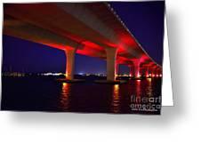 Pink Bridge 2 Greeting Card