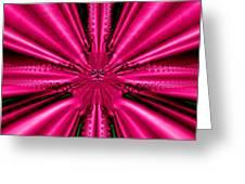 Pink Brocade Fabric Fractal 55 Greeting Card