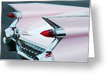 Pink Cadillac Eldorado Tail Fin Greeting Card