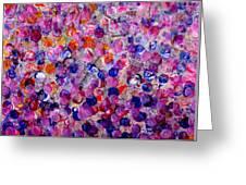 Pink California Splatter Map Greeting Card