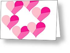 Pink Candy Hearts Greeting Card