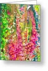 Pink Cascade Greeting Card
