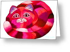 Pink Cat 2 Greeting Card