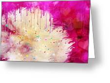 Pink Celebration Greeting Card