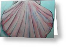 Pink Clam Shell Greeting Card