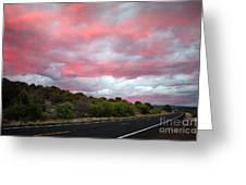 Pink Clouds Over Arizona Greeting Card