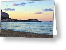 Pink Clouds Over Sicily Greeting Card