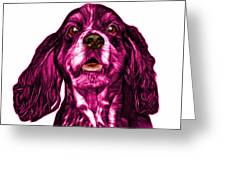 Pink Cocker Spaniel Pop Art - 8249 - Wb Greeting Card