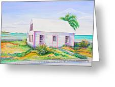 Pink Cottage Greeting Card