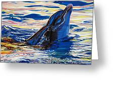 Pink Dolphin Greeting Card