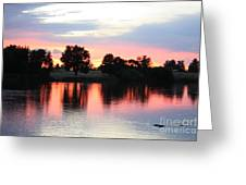 Pink Dusk Reflection Greeting Card