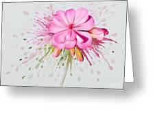 Pink Eruption Greeting Card