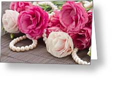 Pink Eustoma Flowers  Greeting Card