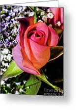 Pink Eye Rose Greeting Card