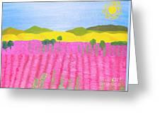 Pink Field Greeting Card