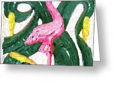 Pink Flamingo Greeting Card