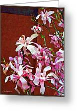 Pink Floral Arrangement Greeting Card