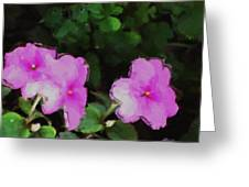 Pink Floral Watercolor Greeting Card
