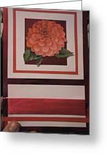 Pink Flower Greeting Card Greeting Card