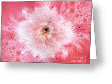 Pink Flower Power Greeting Card