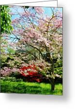 Pink Flowering Dogwood Greeting Card