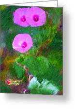 Pink Flowers 102310 Greeting Card