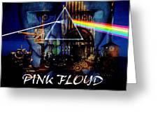 Pink Floyd Montage Greeting Card