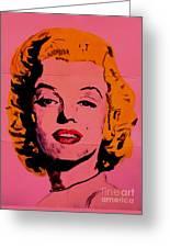 Pink Folded Marilyn Greeting Card