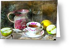 Pink For Tea Greeting Card