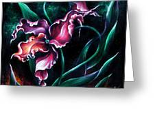 Pink Fuschia Orchid. Dance Of The Nature Greeting Card