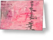 Pink Gray Abstract Greeting Card