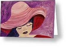 Pink Hat Greeting Card