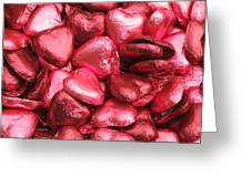 Pink Heart Chocolates I Greeting Card