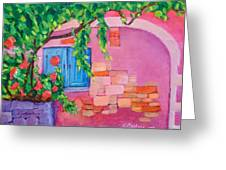 Pink Home Greeting Card