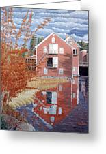 Pink House In Autumn Greeting Card