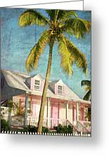 Pink House Palm Greeting Card