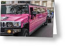 Pink Hummer At Trafalgar Greeting Card
