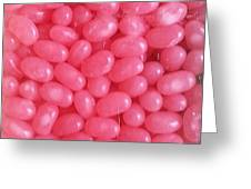 Pink Jelly Beans Greeting Card