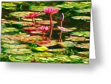 Pink Lotus Flower 2 Greeting Card
