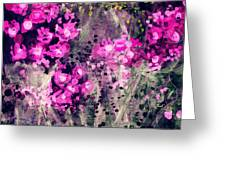 Pink Majestic Garden- Art By Linda Woods Greeting Card