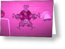 Pink Male Pipe Greeting Card