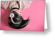 Pink Music Time Greeting Card