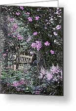 Pink Muted Garden Respite Greeting Card