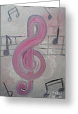 Pink Music Greeting Card