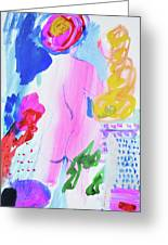 Pink Nude With Headwrap Greeting Card
