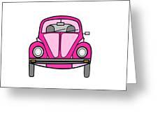 Pink On Wheels Greeting Card