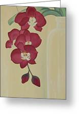 Pink Orchide In A Vase Greeting Card