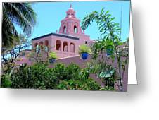 Pink Palace Honolulu Greeting Card